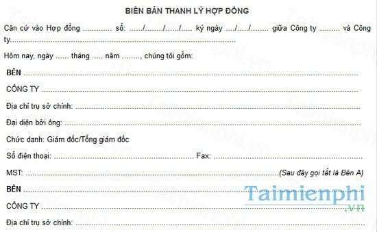 download mau bien ban thanh ly hop dong dich vu