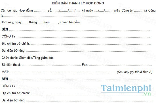 download mau bien ban thanh ly hop dong mua ban