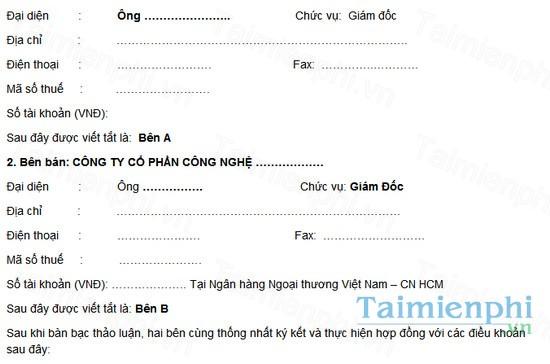 download mau hop dong thuong mai