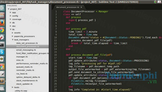 download sublime text 3 cho linux