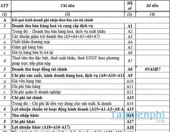 download bao cao tai chinh bang excel