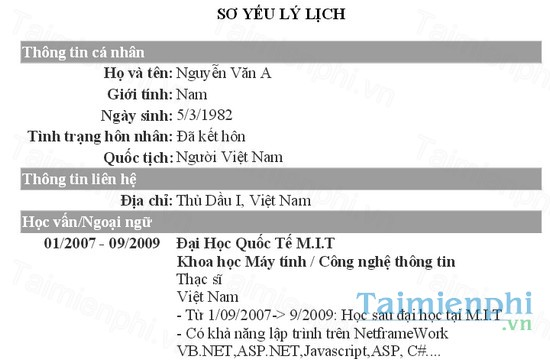 download cv xin viec nganh it