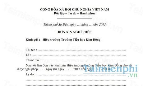 download don xin nghi phep cua giao vien