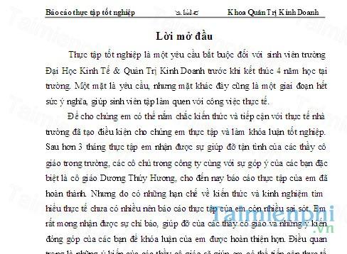 download bao cao thuc tap quan tri kinh doanh