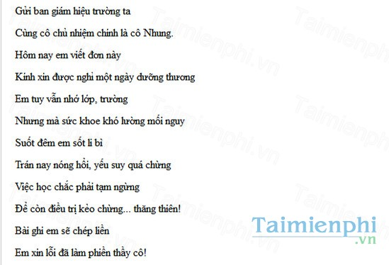 download don xin nghi hoc bang tho