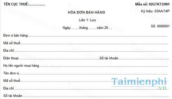 download hoa don ban hang theo thong tu 200