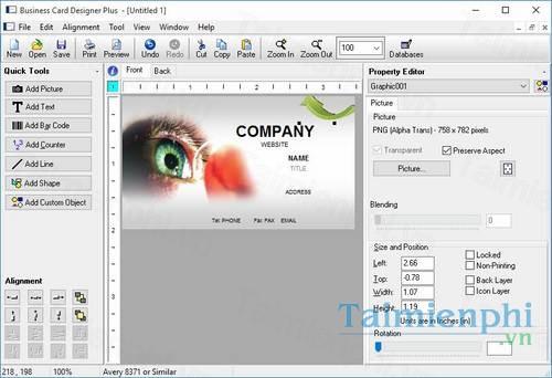 download business card designer plus