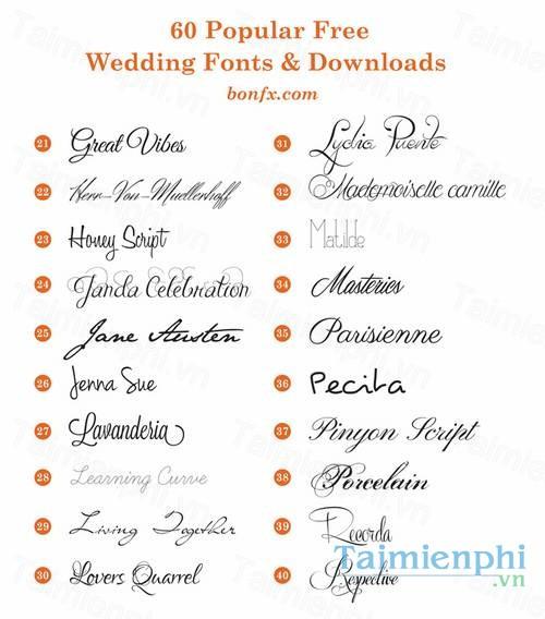 download font wedding