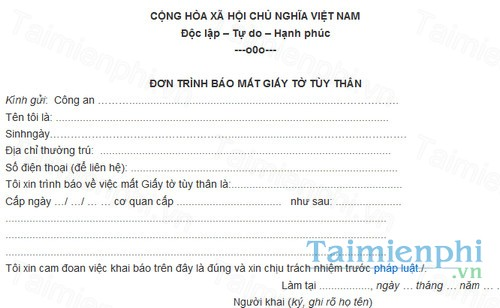 download don trinh bao mat giay to tuy than
