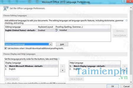 download office 2013 language
