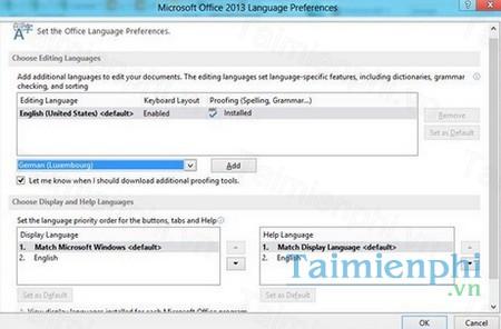 download office 2013 language