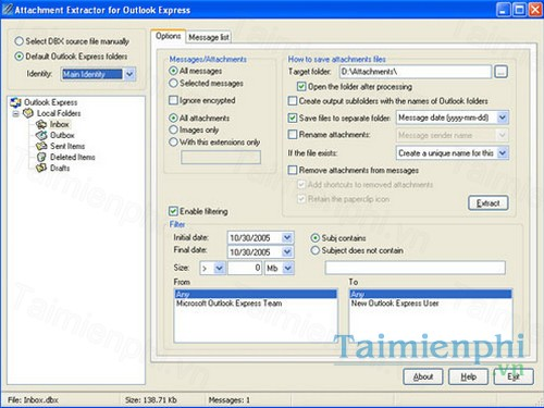 download attachment extractor for outlook express
