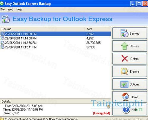 download easy outlook express backup