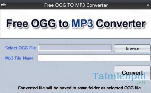Download Free OGG to MP3 Converter 3 3 - Chuyển đổi âm thanh OGG sang