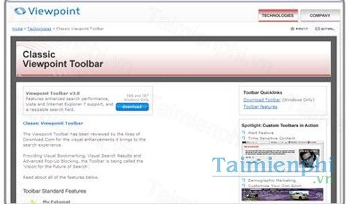 download viewpoint toolbar