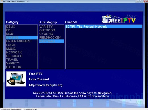 download freeiptv internet tv player