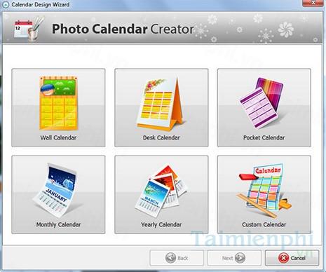 download photo calendar creator