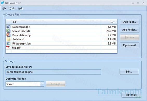 Download NXPowerLite 7 1 2 - Nén file, nén tập tin PPT
