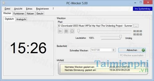 PC Wecker