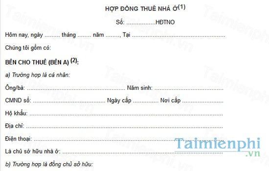 download cach viet hop dong thue nha