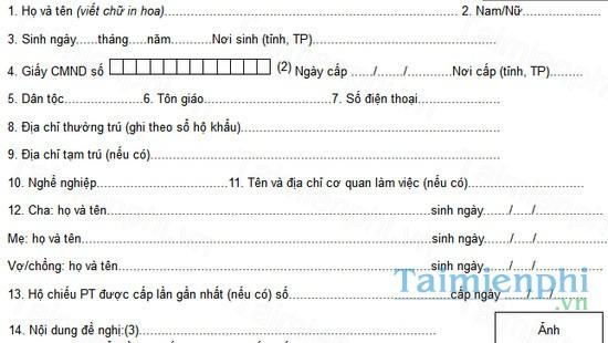 download cach viet to khai cap doi ho chieu