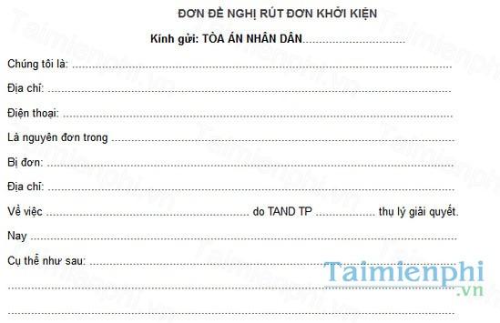 download don de nghi rut don khoi kien