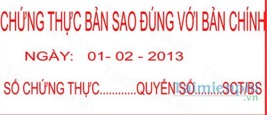 download mau chung thuc