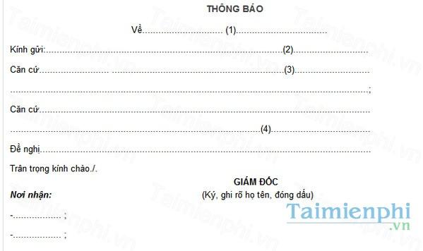 download mau thong bao