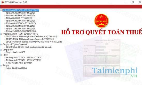 download qttncn, phan mem ho tro ke khai thue tncn