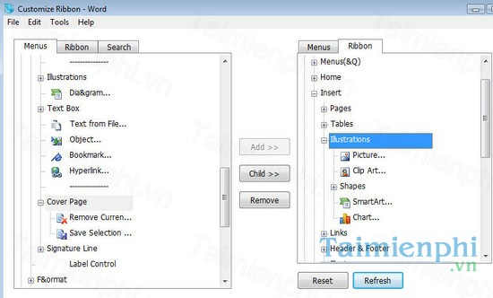 download ribbon customizer