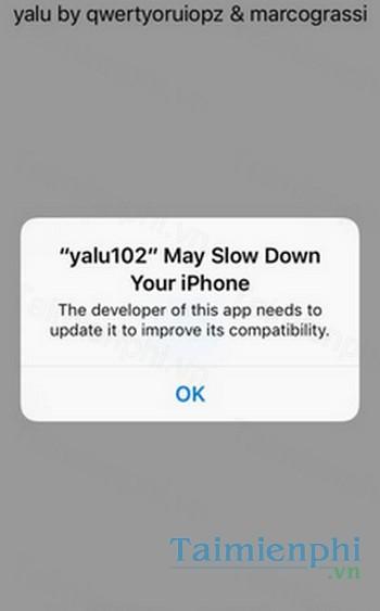 Download yalu102 cho iPhone 5s/ 6 (for iOS) - Ứng dụng Jailbreak iOS 1