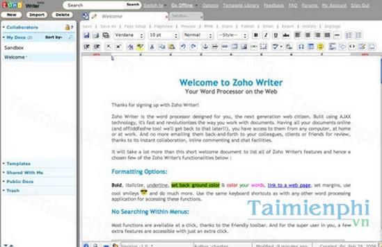 download zoho writer