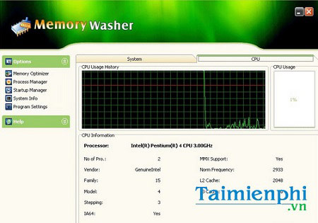 download memory washer