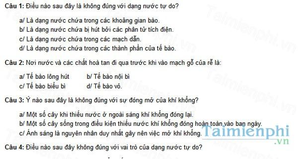 download de thi mon sinh hoc lop 11