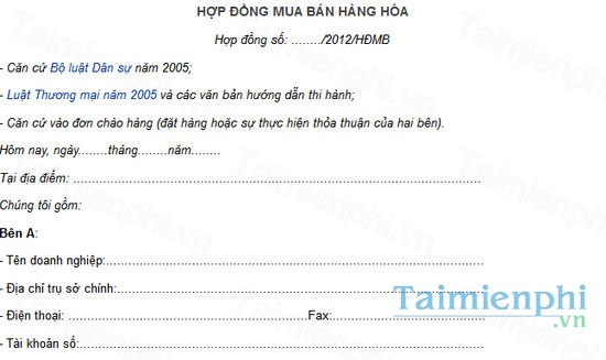 download hop dong mua ban hang hoa