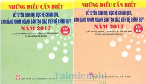 tai nhung dieu can biet tuyen sinh cao dang dai hoc 2017