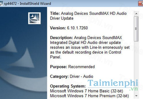 download compaq adi soundmax integrated digital audio