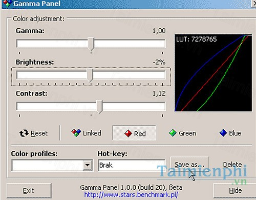 download gamma panel