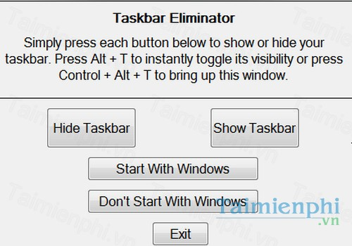 download taskbar eliminator