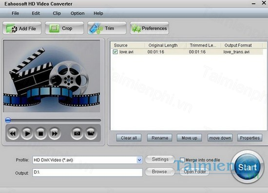 download eahoosoft hd video converter