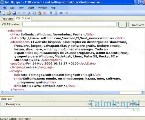 download xml notepad