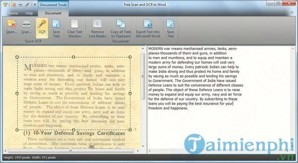 Free Scan and OCR to Word