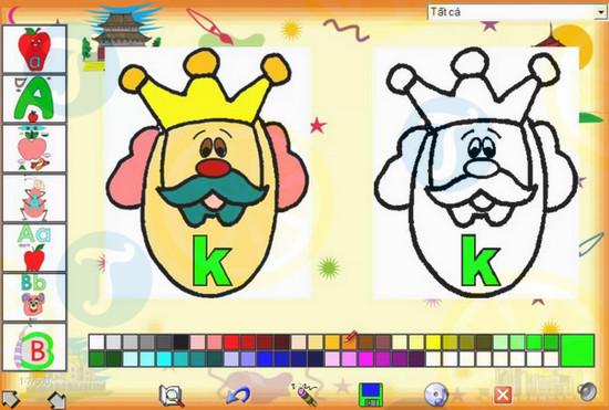 Phần mềm em tập tô màu