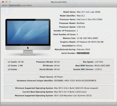 MachineProfile for Mac