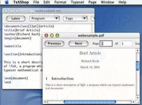 TeXShop for Mac