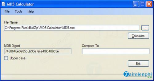 MD5 calculator