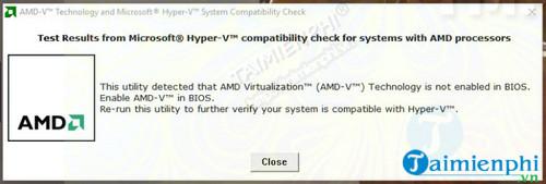 AMD Virtualization Technology and Microsoft Hyper-V System Compatibility Check Utility