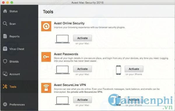 Avast Online Security for Mac