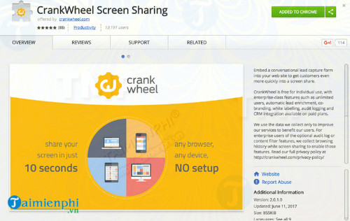 CrankWheel Screen Sharing for Chrome