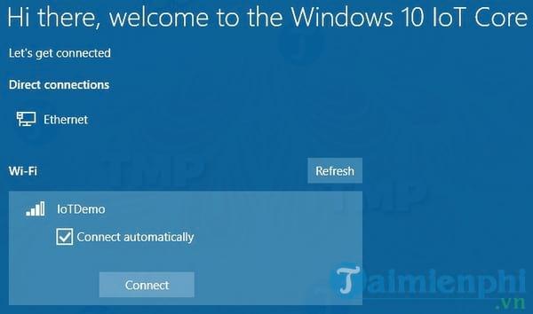 Windows 10 IoT Core Dashboard